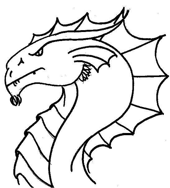 Cute Dragon Head Coloring Pages