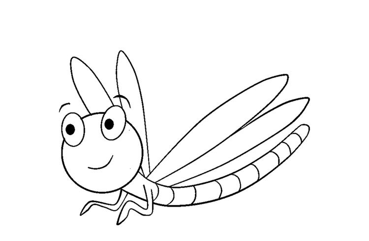 Cute Dragonfly Coloring Pages Of Animals