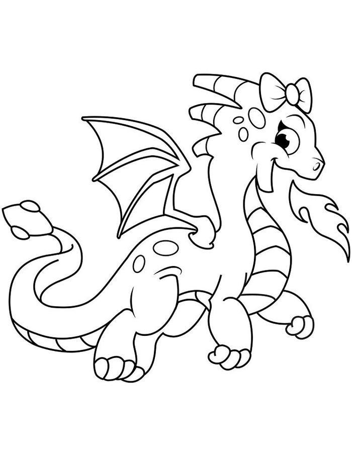 Cute Dragons Coloring Pages
