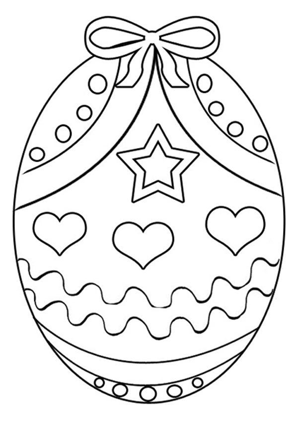 Cute Easter Coloring Pages Eggs