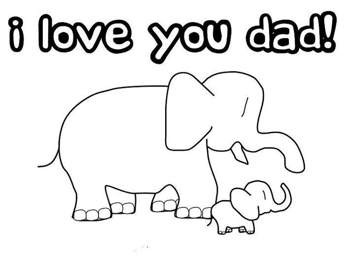 Cute Fathers Day Coloring Pages