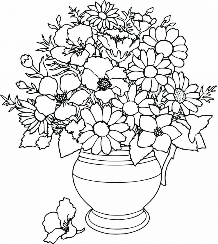 Cute Floral Coloring Pages