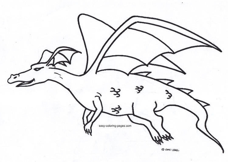 Cute Flying Dragon Coloring Pages