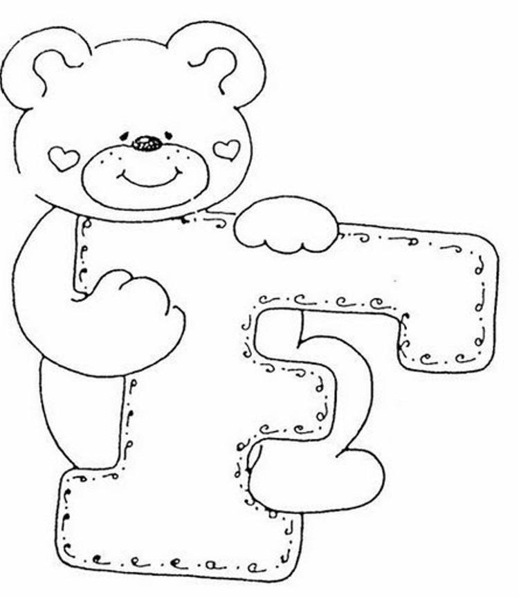 Cute Free Alphabet Coloring Pages