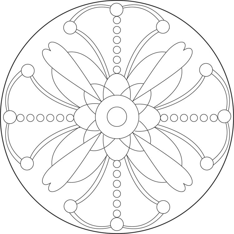 Cute Free Simple Mandala Coloring Pages 1