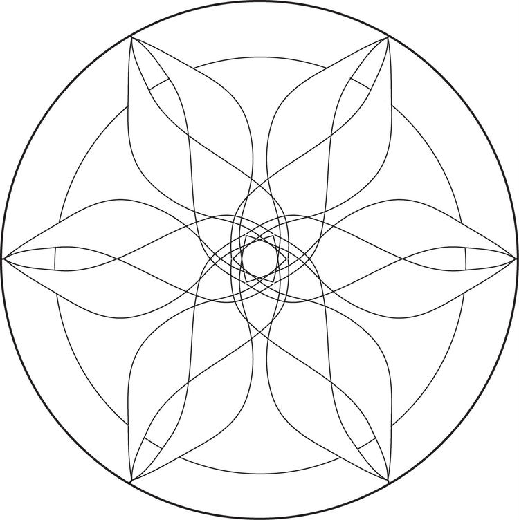 Cute Free Simple Mandala Coloring Pages 2