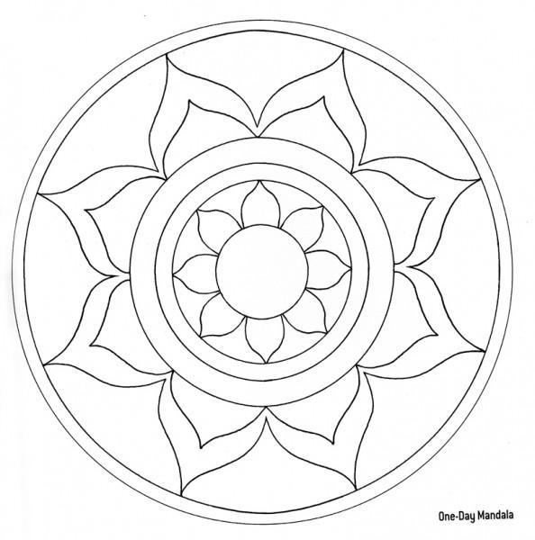 Cute Free Simple Mandala Coloring Pages