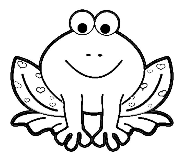Cute Frog Coloring Pages For Preschooler