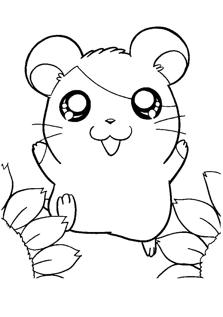 Cute Hamtaro Coloring Pages