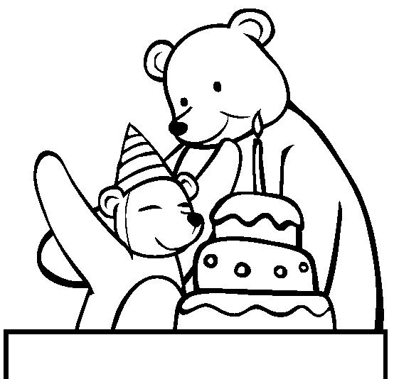 Cute Happy Birthday Coloring Pages Bear