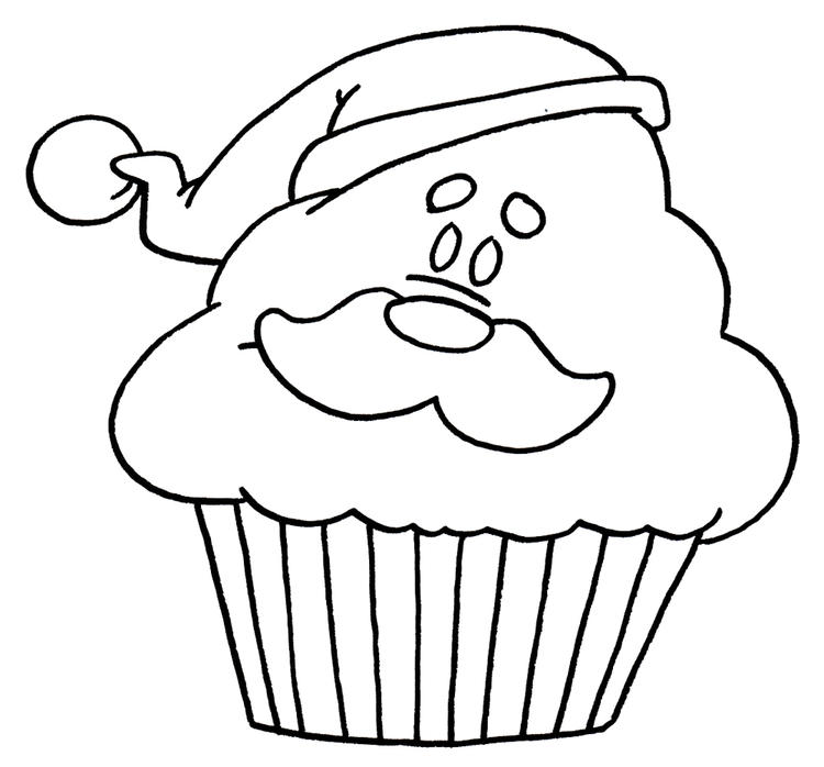 Cute Happy Birthday Cupcake Coloring Pages 1