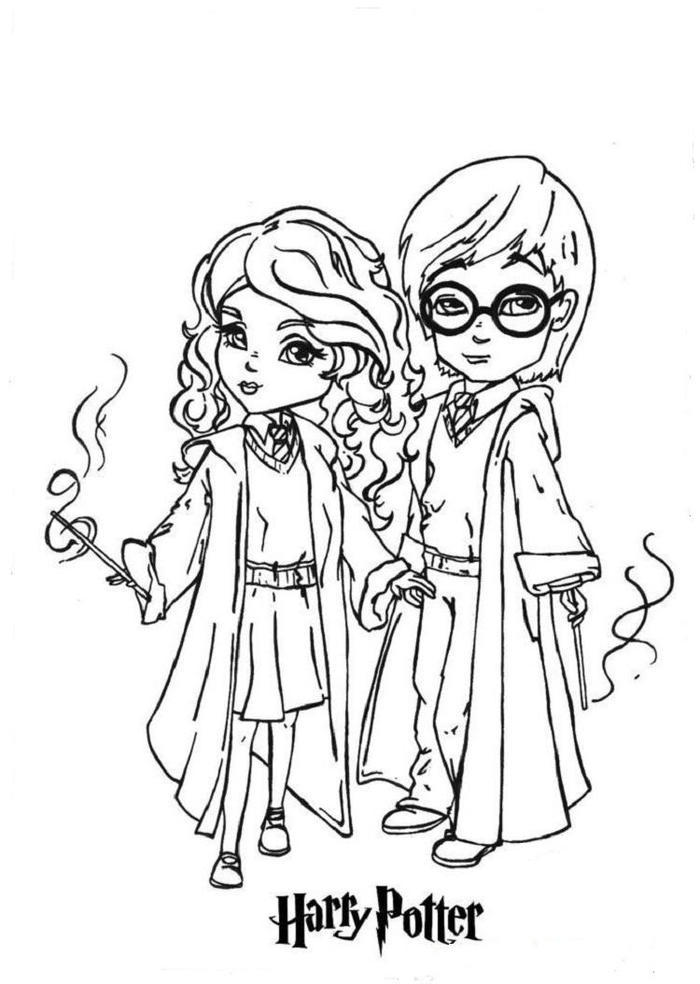 Cute Harry Potter Coloring Pages