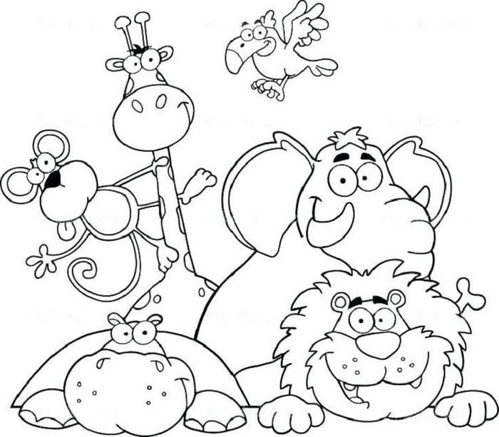 Cute Jungle Animals Coloring Pages - Coloring Ideas