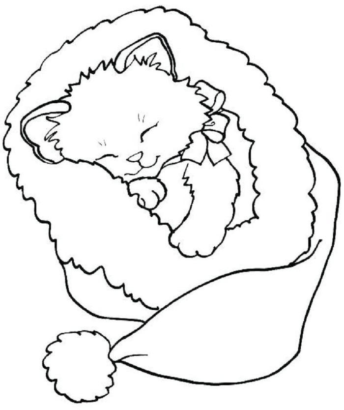 Cute Kittens Coloring Pages