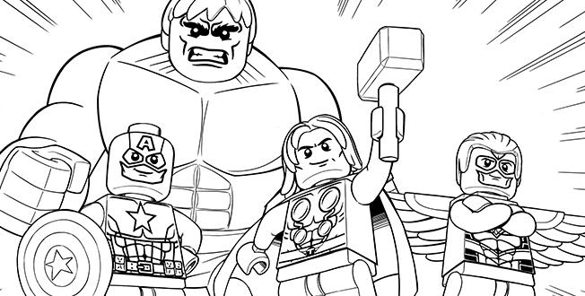 Cute Lego Marvel Coloring Pages 1