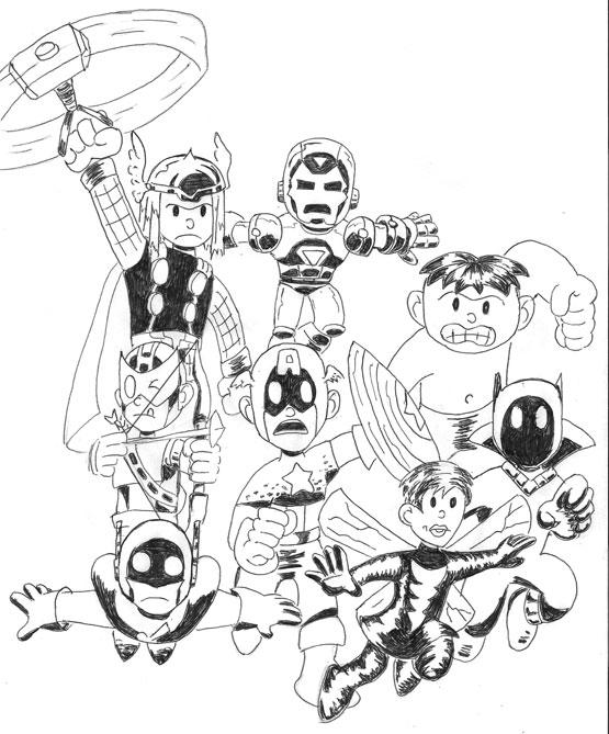 Cute Lego Marvel Coloring Pages 2