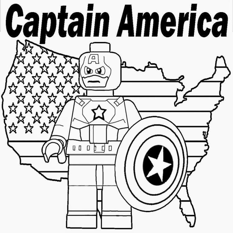 Cute Lego Marvel Coloring Pages