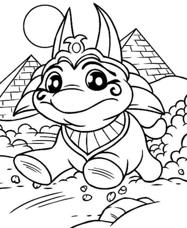 Cute Little Neopets Coloring Pages