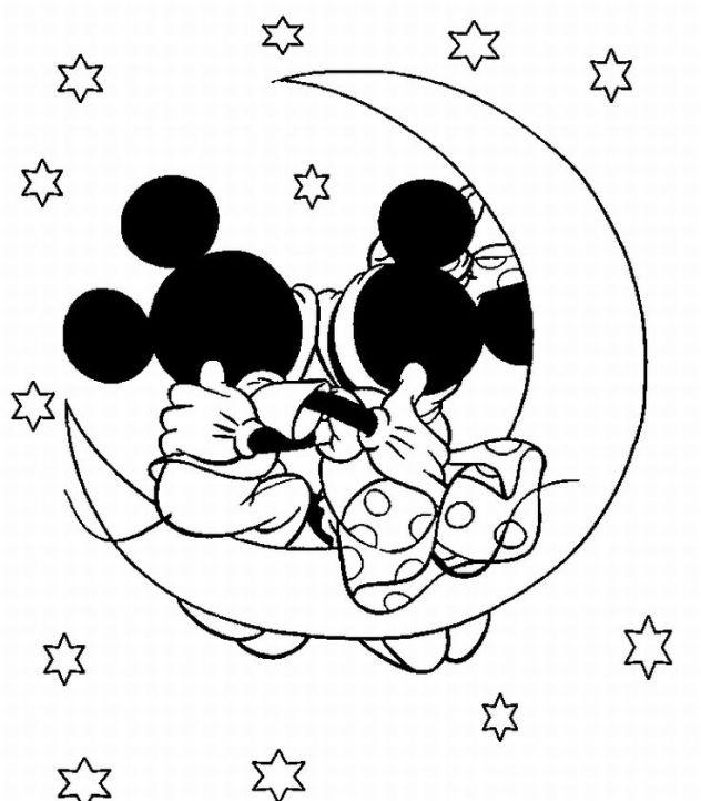 Cute Mickey Mouse Coloring Pages