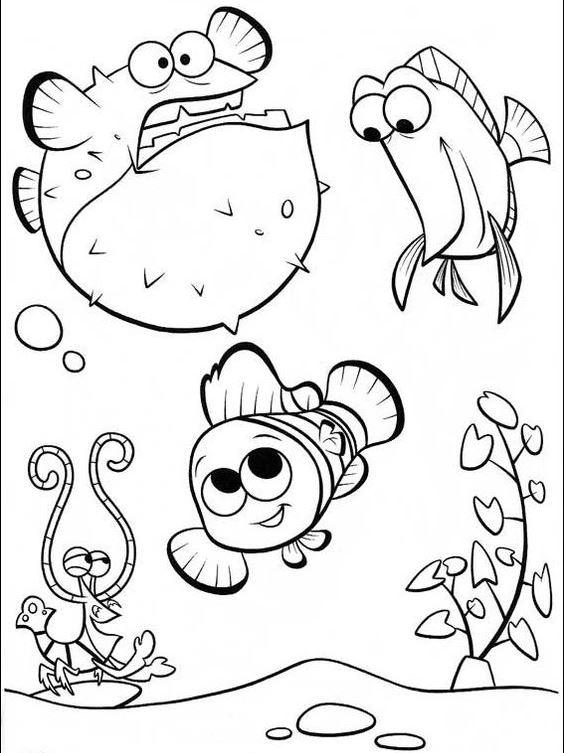 Cute Nemo Coloring Pages