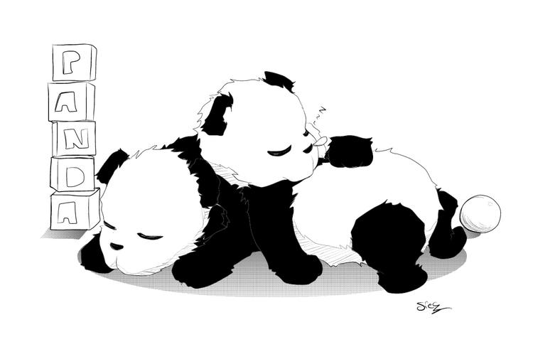 Cute Panda Coloring Pages Sleeping