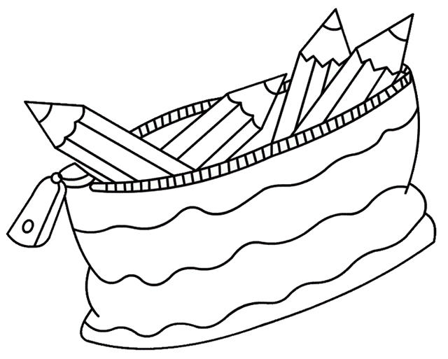 Cute Pencil Case Coloring Pages For Kids