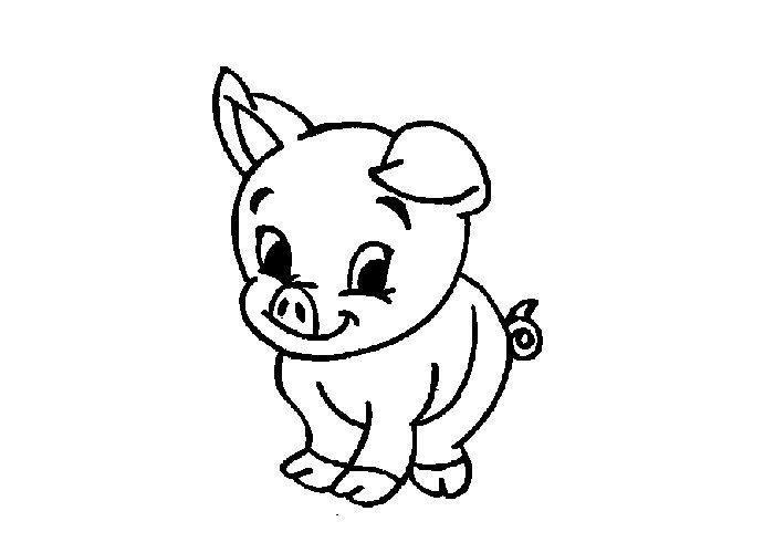 Cute Pig Coloring Pages Preschool