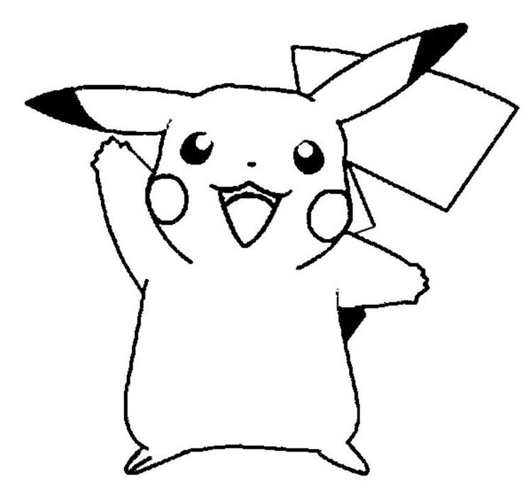 Cute Pikachu Coloring Pages