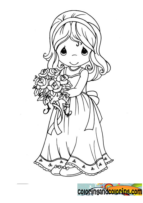 Cute Precious Moments Wedding Coloring Pages