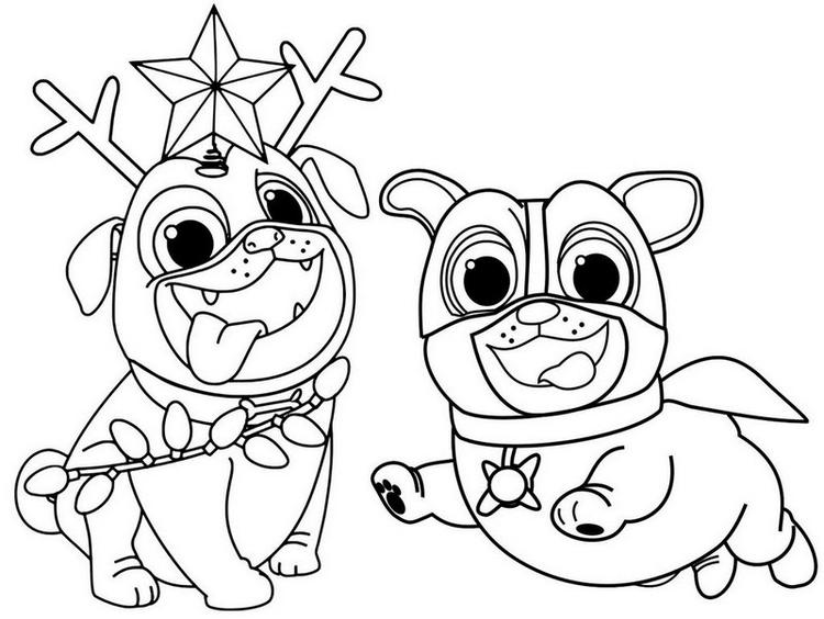 Cute Puppy Dog Pals Coloring Page Coloring Ideas