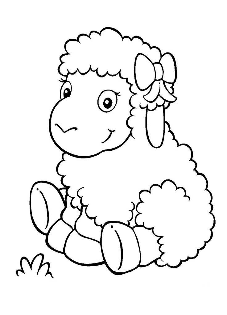 Cute Sheep Coloring Pages For Kids