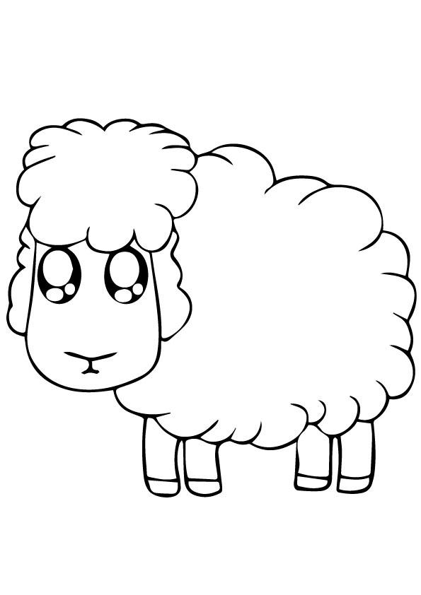 Cute Sheep Coloring Pages To Print