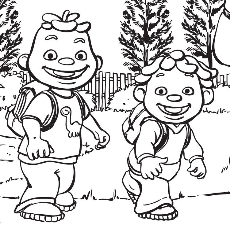 Cute Sid The Science Kid Coloring Pages