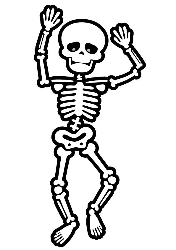 Cute Skeleton Coloring Pages