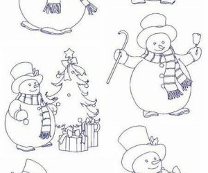 Cute snowman coloring pages for kids