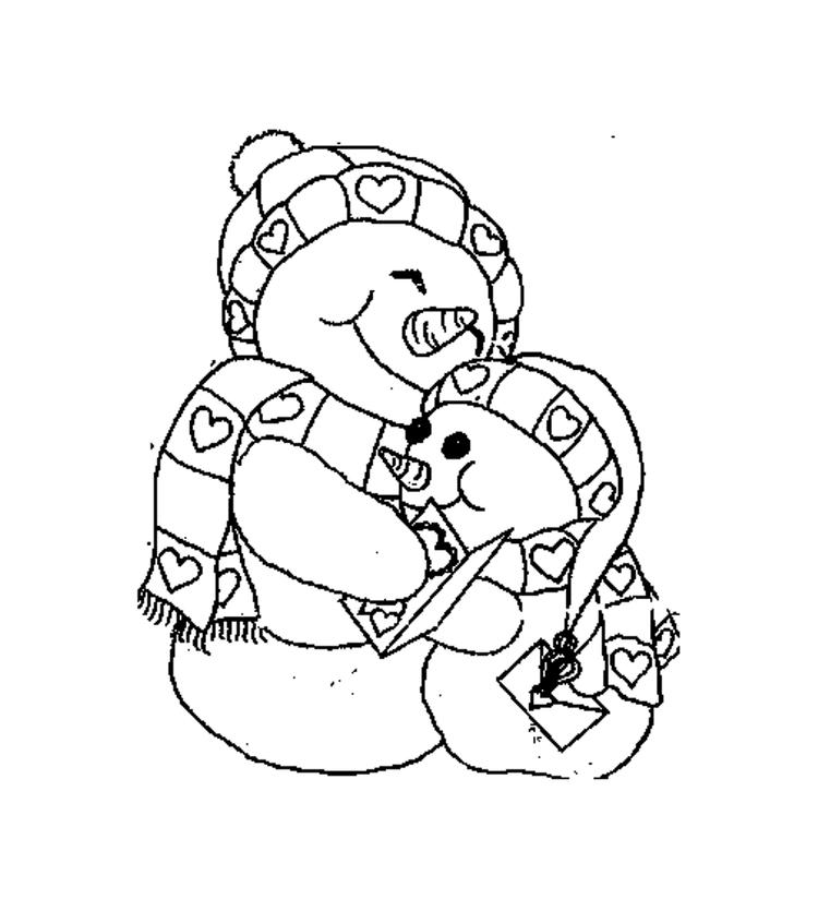 Cute Snowman Coloring Pages To Print