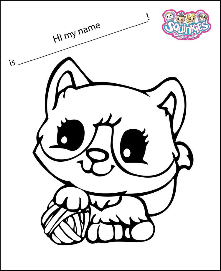 Cute Squinkies Coloring Page For Kids