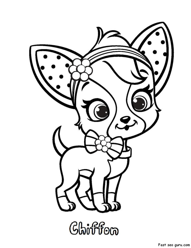 Cute Strawberry Shortcake Pets Coloring Pages