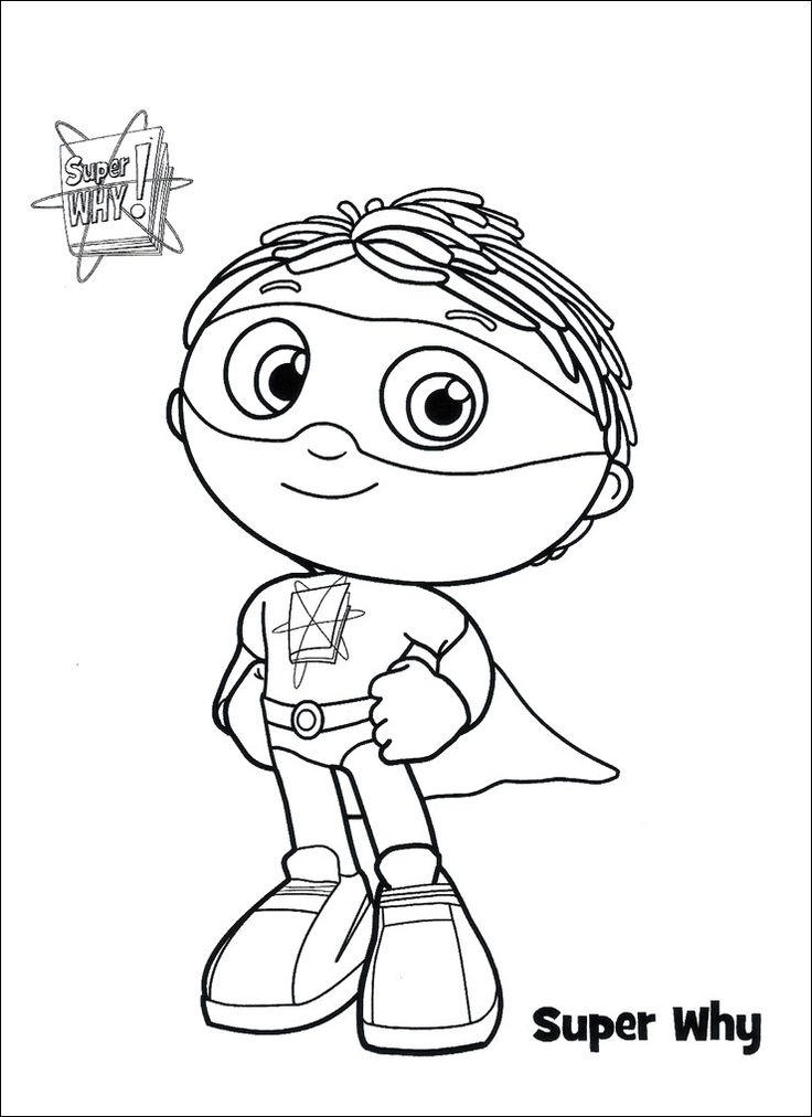 Cute Super Why Coloring Pages