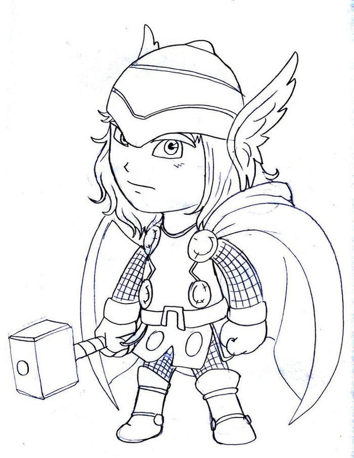 Cute Thor Coloring Pages