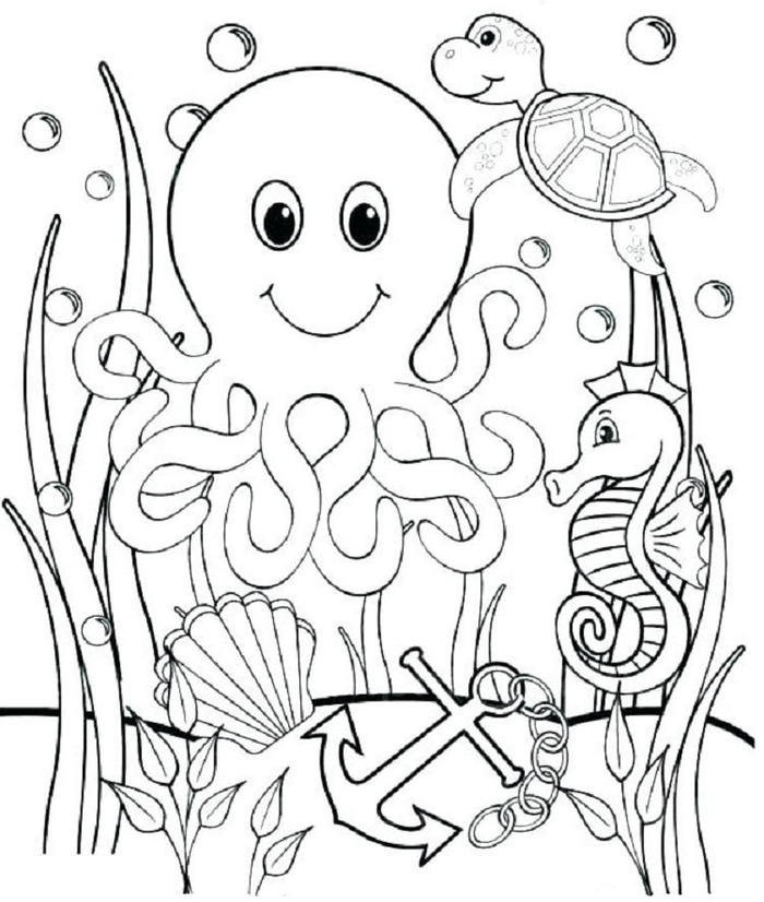 Cute Underwater Coloring Pages