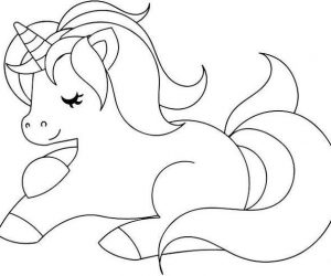 Cute unicorn free coloring pages