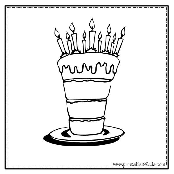 Cute Wedding Cake Coloring Pages