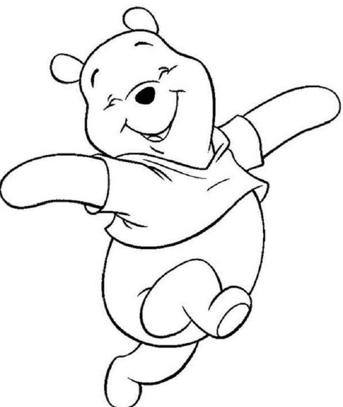 Cute Winnie The Pooh Coloring Pages