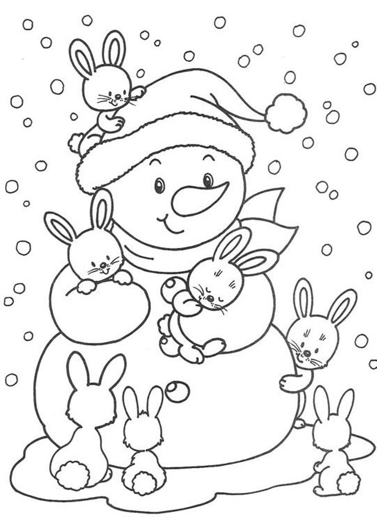 Cute Winter Coloring Pages For Kids