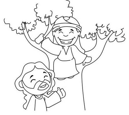 Cute Zaccheo Coloring Page