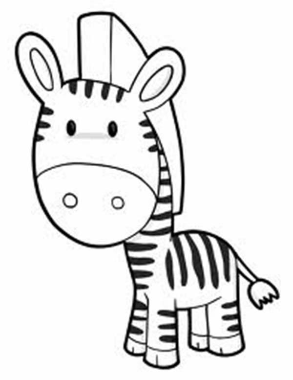 Cute Zebra Coloring Pages - Coloring Ideas