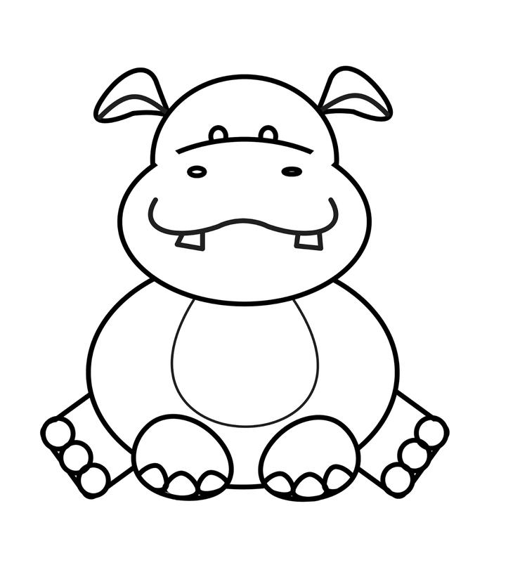 Cute Zoo Animal Coloring Pages For Kids
