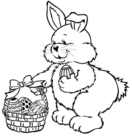 Cuteness Easter Coloring Pages Bunny And Eggs