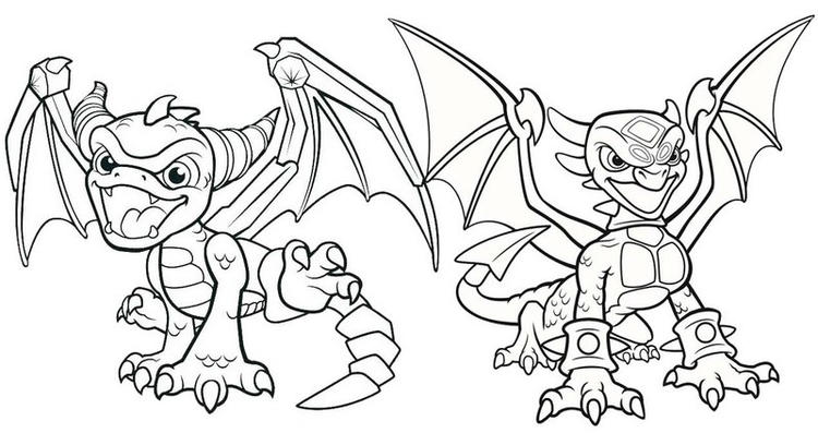 Cynder And Spyro Coloring Page
